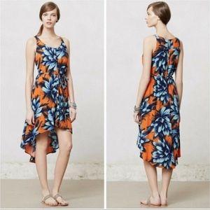 Anthropologie Maeve Sunset Hibiscus Dress